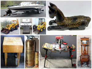 Equipment, Boat, Tools, Furniture and More Auction Catalog