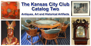 The Kansas City Club Antiques, Art and Historical Artifacts