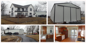 13 Acres +/- with Updated Home and 30' x 70' Wick Outbuildin