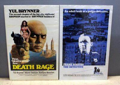 "1968 The Detective With Frank Sinatra And 1976 Death Rage With Yul Brynner And Barbara Bouchet, Original Movie Posters Both 41""H x 27""W"