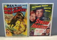 "1950 King Of The Wild Horses With Rex The Wonder Horse And 1953 Stolen Identity With Donald Buka And Joan Camden, Original Movie Posters Both 41""H x 2"