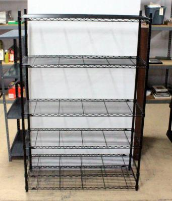 "Inner Metro Wire Rack With Six Adjustable Shelves 74""H x 47.5""W x 18""D"