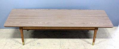 "Mid-Century Modern Formica Topped Coffee Table 15""H x 60""L x 21""D"