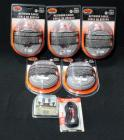 "Geek Squad Network Cable RJ-45 50"" Unopened Qty 5, RCA Couplers Unopened, RCA 20 Ft. Stereo Cable Unopened"