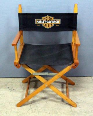 "Harley-Davidson Branded Directors Chair, 21""W x 33""H"