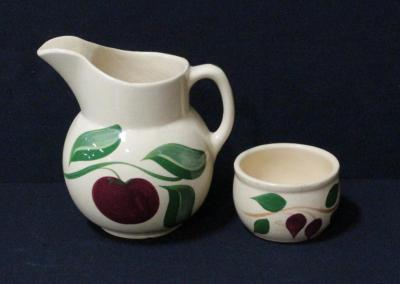 Appleware Pitcher #16 And Bowl #75