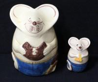 Mouse Cookie Jar And Parmesan Cheese Shaker