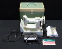 1964 Singer Model 221 Featherweight Sewing Machine With Travel Case, Pedal And Manual