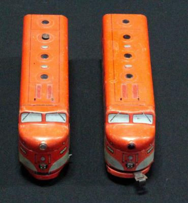 Marx Southern Pacific Electric Tin Locomotives, Qty 2