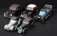 Signature 1:18 1917 R.E.O. Touring, 1937 Cord Supercharged,1939 Lincoln Lephyr Convertible, 1939 Aston Martin, and Ricko BMW 328