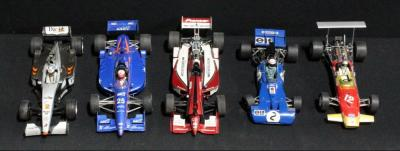 Grand Prix Classics 1:18 Lotus, Tyrell Ford 003, UT Models ND Toyota Reynard, Paul's Model Art 1999 Mclaren MP4/14 Mercedez, Action Toyota TM2000CLP