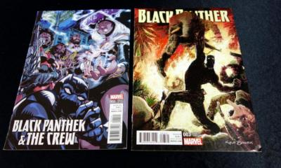 Black Panther And The Crew #1 1:25 Damien Scott Variant, Black Panther #3 Variant