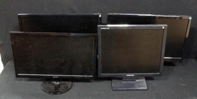 Computer Monitors, Ativa Model AT220H Qty 2, Samsung Model 730BLS And Asus Model VS207, Total Qty 4, City Of Belton Surplus