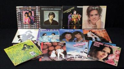 The Osmonds, Donny And Marie, Vinyl LP Records, VG+ To NM, Qty 19