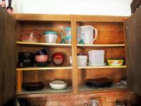 Gibson Contemporary Plates, Saucers And Bowls, Food Storage Containers, Pitchers And More , Contents Of Cabinet