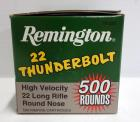 Remington 22LR Round Nose Approximate 500 Rounds. Local Pickup Only.