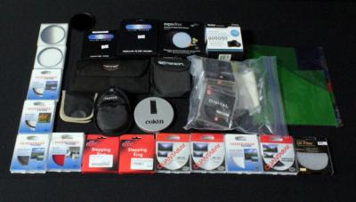 Assorted Lens Filters Contents Of Box