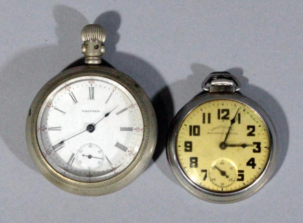 b28e12eef5c8 Lot 189 of 352  1907 American Waltham 7- Jewel Pocket Watch and Aristocrat  Rail Road Special Pocket Watch