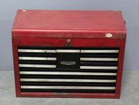 Craftsman Flip Top 10 Drawer Locking Tool Chest and Contents