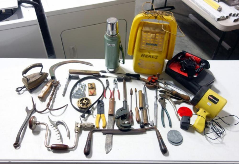 Assortment Of Tools And Accessories Including Channel Lock
