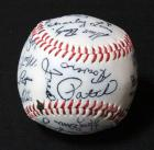 Kansas City Royals Stamped Signatures Baseball Mid-1970s