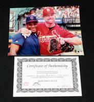"Sammy Sosa And Mark McGwire Authentic Autographed Photo With COA 8"" x 10"""