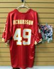 "Tony Richardson Kansas City Chiefs Football Jersey Size Large And Authentic Autographed Photo With COA 8"" x 10"""