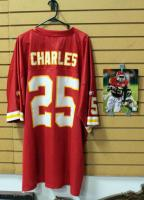 "Jamaal Charles Kansas City Chiefs Football Jersey Size 4XL And Authentic Autographed Photo With COA 8"" x 10"""