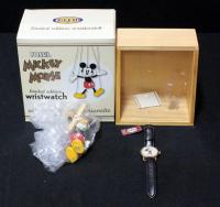 Fossil Mickey Mouse Character Watch Gold Edition LI-1562 # 448 of 1000 With Collectible Marionette In Case, Unused