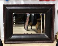 "Large Framed Hanging Mirror With Beveled Glass 45.5""W x 36""H"