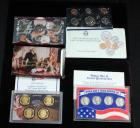 U.S. Mint Uncirculated Coin Set 1989 D And P, 2007 Presidential One Dollar Coin Set, And World War II Silver Quarter Set