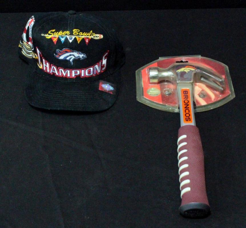 9c65c57c Denver Broncos Super Bowl XXXII Champions Hat And Denver Broncos 16 ...