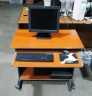 "Rolling Computer Desk With Key Board Slide Out Including HP Compaq PC, IBM 17"" Monitor, Key Board And Mouse"