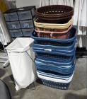 Plastic Laundry Baskets, Qty 27