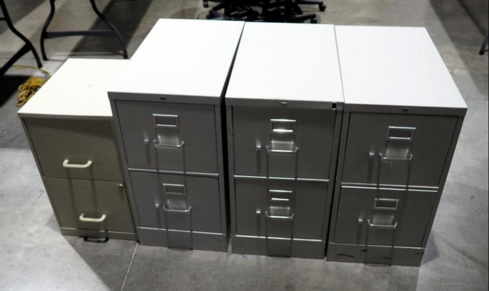 Hon 2 Drawer Metal Filing Cabinets Qty 4