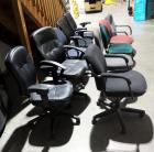 Adjustable Rolling Office Chairs Assorted Styles And Colors, Qty 10