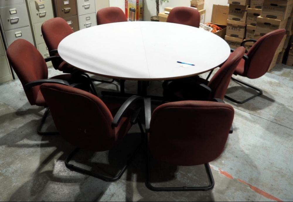 Upholstered Conference Chairs, Qty 8