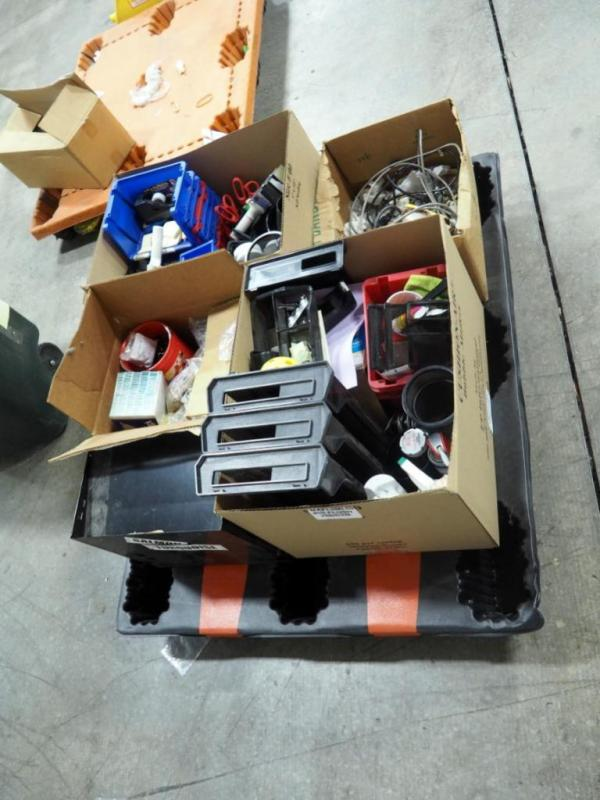Office Supplies To Include Packing Tape Gun, Stackable Storage Bins