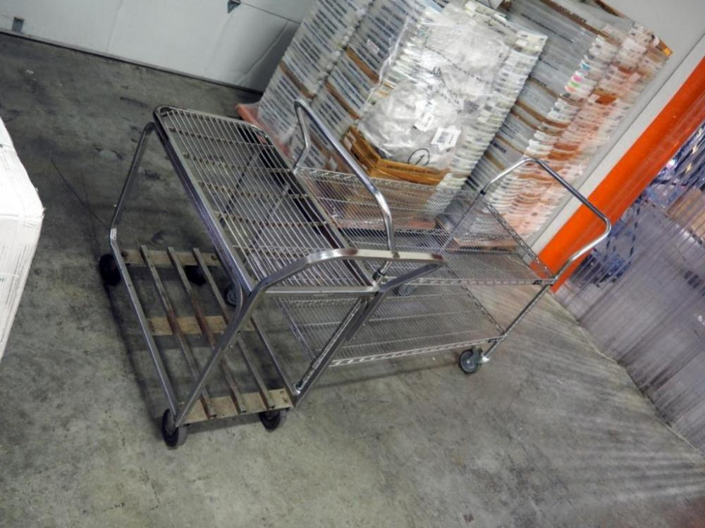 Uline Stainless Steel Rolling Cart, 40
