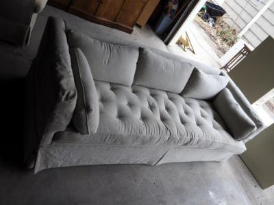 "Upholstered Sofa, 27"" x 84"" x 38"""