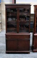 "China Cabinet, One Piece, 3 Shelves In Hutch, Drawer, 2 Shelves In Lower Compartment, Dovetail Construction 36""W x 70.5""H x 17""D"