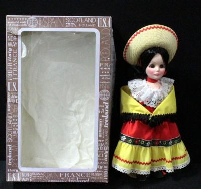 "Effenbee Doll Miss Mexico 11""H In Box"