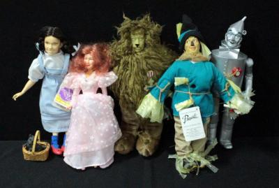 "Presents Dolls The Wizard Of Oz 12""H Dorothy, Scarecrow, Tin Man, Cowardly Lion And Glenda The Good Witch"