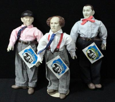 "Presents Dolls The Three Stooges 15""H Larry, Curly And Moe"