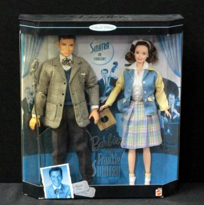 Mattel Barbie Loves Frankie Sinatra Collectors Edition 2 Dolls In Box