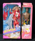 Mattel Barbie Baywatch In Original Box And Tropical Ken In Original Box