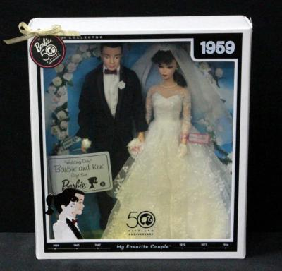 Mattel 50th Anniversary Barbie And Ken 1959 Wedding Day Gift Set 2 Dolls In Original Box