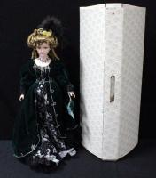 "Franklin Heirloom Doll Olympia Savio 23""H On Stand In Box"