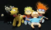 Applause Rugrats Dolls Tommy, Chucky, Angelica And Spike And Herrington Teddy Bears House Of Blues Elwood