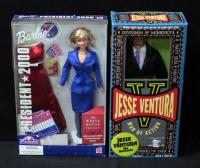 "Mattel Barbie President 2000 And Jesse Ventura The Governor Doll Both 11"" Both Unopened"